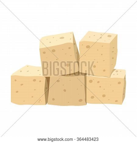 Cheese Tofu Vector Icon.cartoon Vector Icon Isolated On White Background Cheese Tofu.