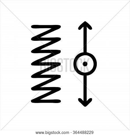 Spring Coil Icon. Isometric Of Spring Coil Vector Icon For Web Design Isolated On White Background