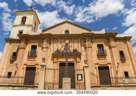 Facade Of The Historic Santiago Church In Lorca, Spain