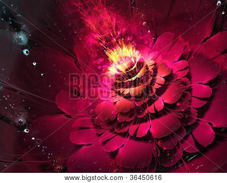 abstract floral fractal background  for art projects