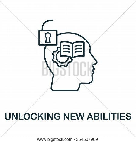 Unlocking New Abilities Icon From Personality Collection. Simple Line Unlocking New Abilities Icon F