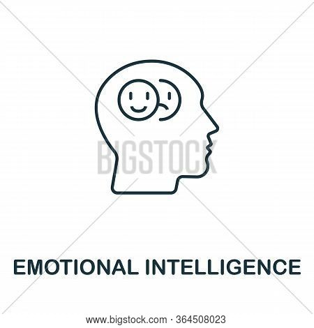 Emotional Intelligence Icon From Personality Collection. Simple Line Emotional Intelligence Icon For