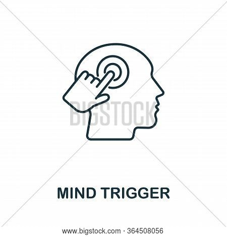 Mind Trigger Icon From Personality Collection. Simple Line Mind Trigger Icon For Templates, Web Desi
