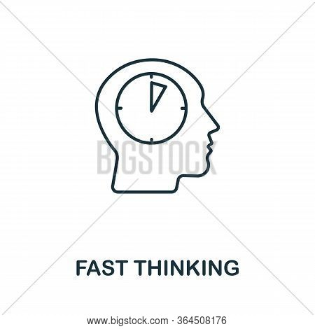Fast Thinking Icon From Personality Collection. Simple Line Fast Thinking Icon For Templates, Web De
