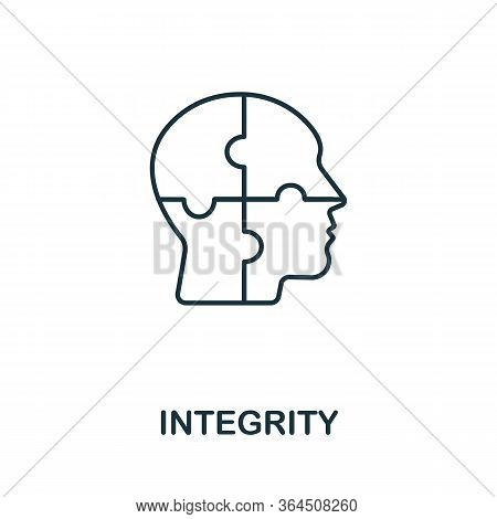 Integrity Icon From Personality Collection. Simple Line Integrity Icon For Templates, Web Design And