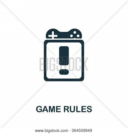 Game Rules Icon From Video Games Collection. Simple Line Game Rules Icon For Templates, Web Design A