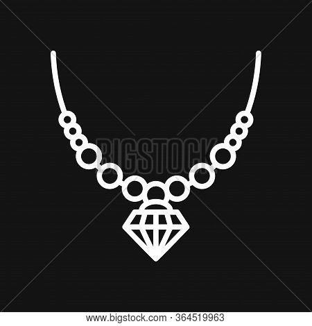 Necklaces Icon. Stylized Sign Of Beads Necklace.