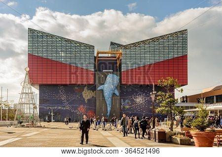 Osaka Aquarium Kaiyukan, One Of The Largest Aquariums In The World, Osaka, Japan