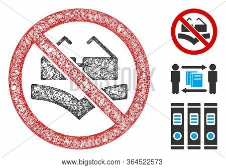 Mesh Not Read Books Polygonal Web Icon Vector Illustration. Abstraction Is Based On Not Read Books F
