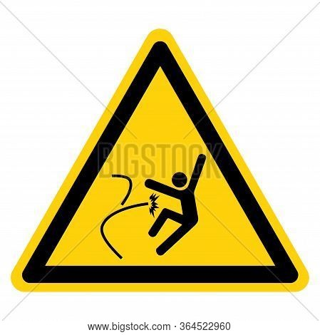 Warning Uncontrolled Release Of Energy Symbol Sign ,vector Illustration, Isolate On White Background