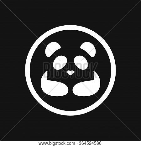 Panda Icon. Vector Image Of A Panda On Background