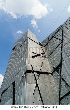Berlin, Germany - July 29, 2019: The Jewish Museum Of Berlin. It Exhibits The Social, Political And