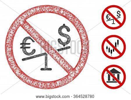 Mesh No Forex Market Polygonal Web Symbol Vector Illustration. Model Is Based On No Forex Market Fla