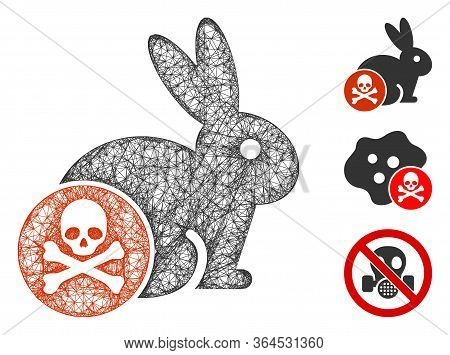 Mesh Rabbit Toxin Polygonal Web Symbol Vector Illustration. Carcass Model Is Based On Rabbit Toxin F