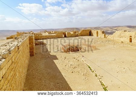 View Of The Ruined Ancient Nabataean City Of Avdat, Now A National Park, In The Negev Desert, Southe