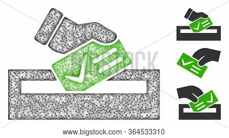Mesh Your Vote Polygonal Web Icon Vector Illustration. Abstraction Is Based On Your Vote Flat Icon.