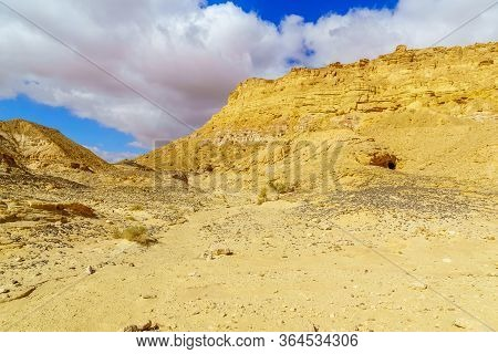 View Of The Cliffs Of Mount Ardon, Part Of Makhtesh (crater) Ramon, In The Negev Desert, Southern Is