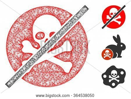 Mesh No Toxins Polygonal Web Icon Vector Illustration. Model Is Based On No Toxins Flat Icon. Triang