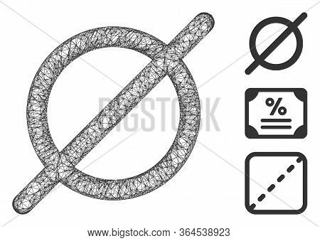 Mesh Nothing Polygonal Web Icon Vector Illustration. Abstraction Is Created From Nothing Flat Icon.