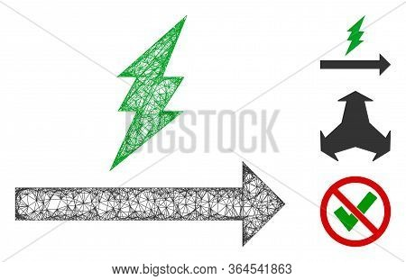 Mesh Proceed Polygonal Web 2d Vector Illustration. Model Is Based On Proceed Flat Icon. Triangle Mes