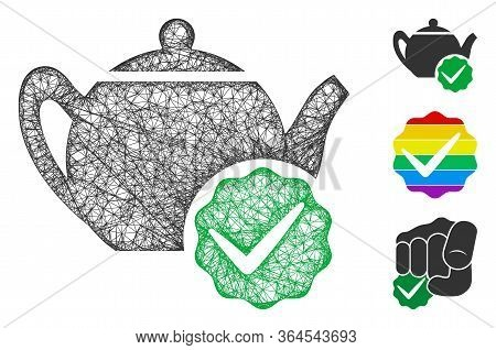 Mesh For Dummies Only Polygonal Web Symbol Vector Illustration. Carcass Model Is Based On For Dummie