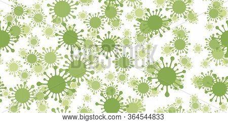 Seamless Pattern Coronavirus Isolated On White Background. Vector Illustration.
