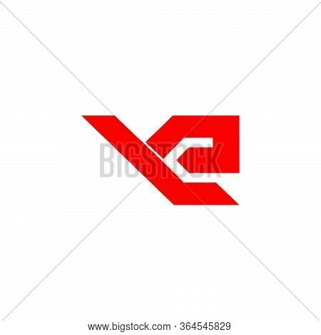 Abstract Letter Ye Simple Geometric Logo Vector