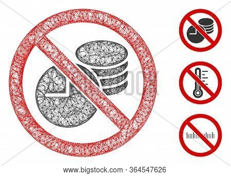 Mesh No Credit Time Polygonal Web 2d Vector Illustration. Carcass Model Is Based On No Credit Time F