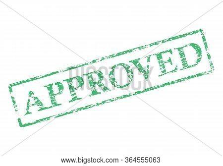 Approved Stamp For Banner Design. Design Element. Business Concept. Concept Banner. Approved Square