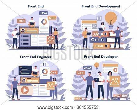 Frontend Development Concept Set. Website Interface Design