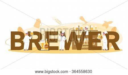 Brewer Or Beer Concept Typographic Header Concept. Craft Beer