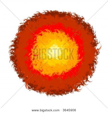 Abstract Brush Fire Lava