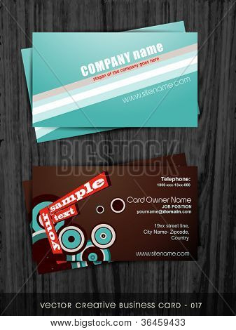 poster of vector creative abstract style business card template