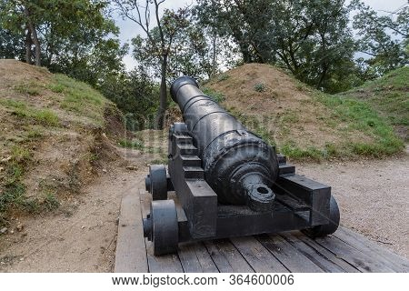Artillery Positions On The Malakhov Mound In Sevastopol. The Crimean War Of 1853-1856.