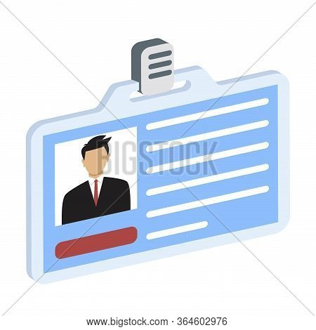 Id Card Icon. Identity Card, National Id Card, Passport Card With Electronic Chip And Woman Photo. V
