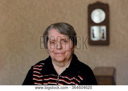 Portrait Of An Happy Elderly Woman Smiling