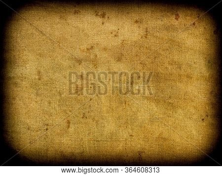Background Looks Like A Rectangular Fragment Of Weathered Mottled Textured Grunge Tarpaulin With A V