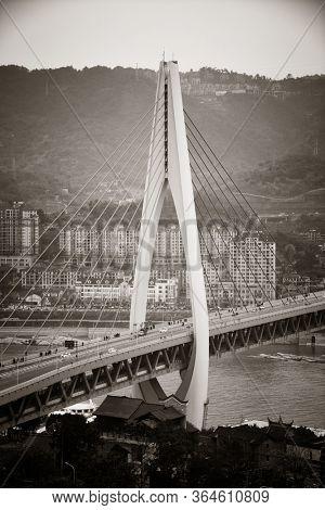 Bridge closeup in Chongqing, China.