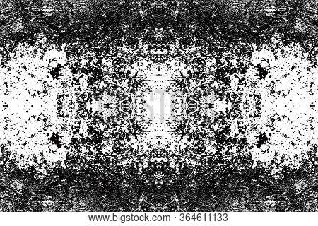 Sketch For Ceramic Tiles. Black Symmetrical Pattern On A White Background. Seamless.