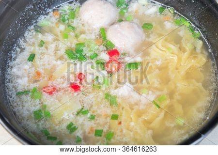 Close Up A Bowl Of Minced Meat Noodle Or Bak Chor Mee Unique Singapore Cuisine