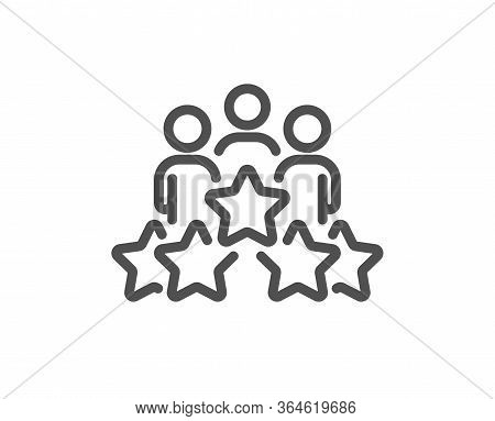 Business Meeting Line Icon. Employee Nomination Sign. Teamwork Rating Symbol. Quality Design Element