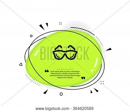 Eyeglasses Icon. Quote Speech Bubble. Oculist Clinic Sign. Optometry Vision Symbol. Quotation Marks.