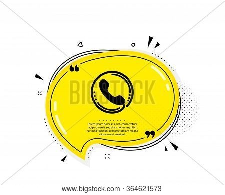 Call Center Service Icon. Quote Speech Bubble. Phone Support Sign. Feedback Symbol. Quotation Marks.