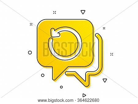 Backup Data Sign. Recovery Info Icon. Restore Information Symbol. Yellow Circles Pattern. Classic Re