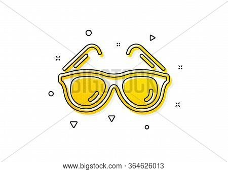 Trip Sun Glasses Sign. Travel Sunglasses Icon. Holidays Symbol. Yellow Circles Pattern. Classic Sung