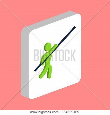 Pole Vault Sport Simple Vector Icon. Illustration Symbol Design Template For Web Mobile Ui Element.