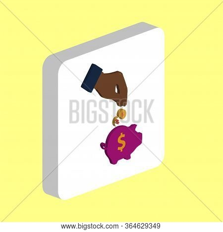 Investing, Piggy Bank Simple Vector Icon. Illustration Symbol Design Template For Web Mobile Ui Elem