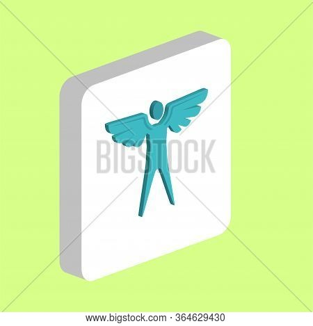 Angel, Man With Wings Simple Vector Icon. Illustration Symbol Design Template For Web Mobile Ui Elem