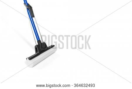 Sponge mop isolated on white background, including clipping path