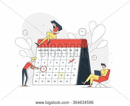 Planning. Organization Tasks. Successful Execution Of Tasks From The To Check List. Man With Pen And